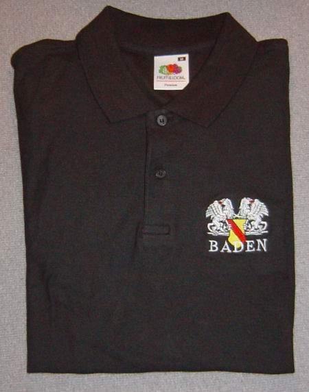 Polo-Shirt mit Badenwappen in Schwarz, rot, gelb d4e2722c52